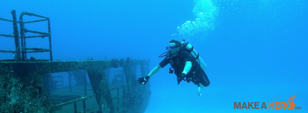 Jesee Murphree scuba diving
